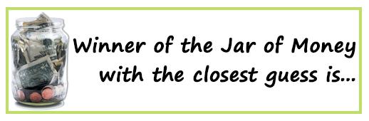 Winner Jar of Money Contest